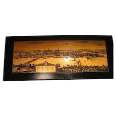 1633: Engraved Topographical Copper  Plate of Mainz Germany by Matthaus Merian