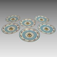 Limoges Flower Basket Dinner Plates by Charles Ahrenfeldt