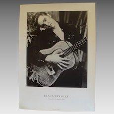 Black and White Elvis Presley Publicity  Lithograph Photo Corniche
