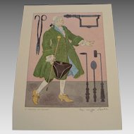 Medical Costume Prints, Signed by Warja Honegger Laveter