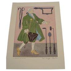 Medical Costume Prints, Signed by Warja Honegger Laveter