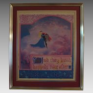 "Vintage Disney's "" Sleeping Beauty "" Lithograph"