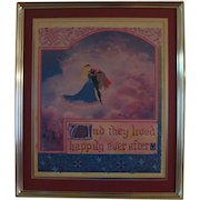 "Vintage Disney's "" Sleeping Beauty "" Lithograph"