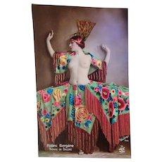 1920: Burlesque Beauty Postcard