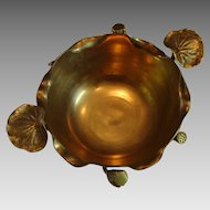 "Large Art Nouveau "" Water Lilies "" Brass Bowl"