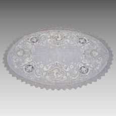Circa 1900: Hand Worked Romantic Victorian Lace Centerpiece