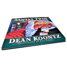 """1997: Signed First Edition """" Santa's Twin """" by Dean Koontz"""