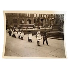 1912: Original Photograph of Suffragettes Parade in Brooklyn NYC
