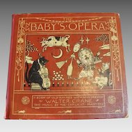"1877 First Edition : "" Baby's Opera "" by Walter Crane and Friends"