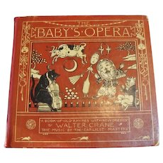 """1877 First Edition : """" Baby's Opera """" by Walter Crane and Friends"""