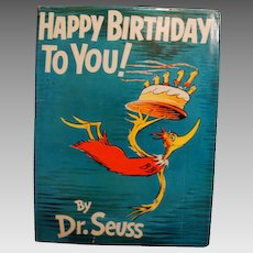 """1959: First Edition,"""" Happy Birthday To You!"""" by Dr. Seuss"""