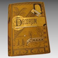 """1881: First Edition, """" Decorum """""""