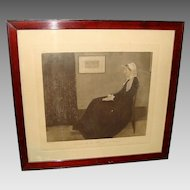 "*Antique Hand Colored Lithograph "" Arrangement in Grey and Black  "" James  Whistler"