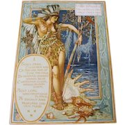 """1893: FIRST EDITION """" Columbia's Courtship """" by Walter Crane"""