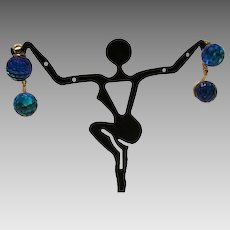 1960's: Vendome Double Disco Ball Drop Earrings