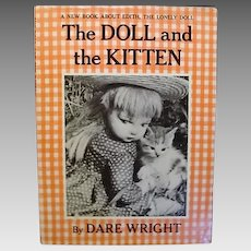"""1960: First Edition """" The Doll and the Kitten """" by Dare Wright"""
