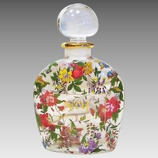 Original Hand Painted Large Display Laura Ashley Perfume Bottle