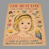 """1960:  First Edition """" The Best Day for Every Little Girl """" by Kathryn Murray"""
