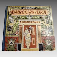 "1887 First Edition "" Baby's Own Aesop"" by Walter Crane"