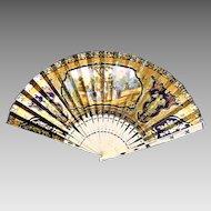 Circa 1880:  Fabulous French Fan