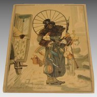 "1881: Extremely Rare , Louis Prang Christmas Card "" A Modern Day Santa """
