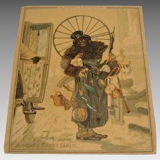 "1881: Extremely Rare , Louis Prang Christmas Card "" A Modern Day Santa """