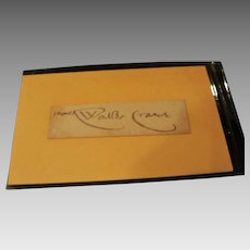 Authentic Clipped Signature of Walter Crane