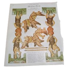 """1922: Collection of """" Twin Paper Dolls """" by Jessie Louise Taylor"""