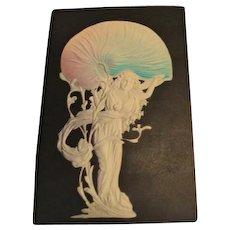 """Circa 1906: Enchanting Art Nouveau """" Sea Nymph """" Postcard"""