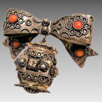 Antique Persian Prayer Box Brooch