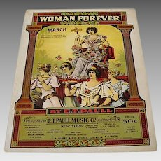"1916: Rare Suffragist Sheet Music "" Women Forever """
