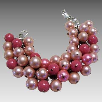 1960's: Bubble Gum Pink Cha Cha Bracelet