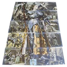 "Circa 1910: Complete Installment Puzzle Postcard Set of "" The Life of Joan of Arc """