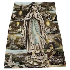 "Circa 1910: Remarkable 10 piece installment Postcard set of "" The Apparitions of Mary """