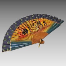 Art Deco : Hand Painted Fan From Spain