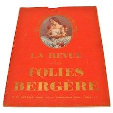Original 1923 La Revue Folies Bergere