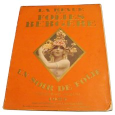 "1925  Folies Bergere Revue "" A Night of Madness """