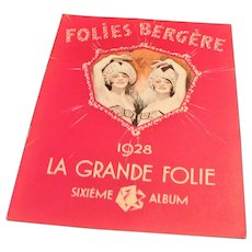 1928 Folies Bergere Revue Album