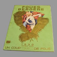 "1930 Folies Bergere Revue Album "" A Blow of Maddnes """