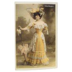"Circa 1910: Folies Bergere Entertainer "" Joly "" Walery"