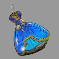 Butterfly Wing & Sterling Pendent