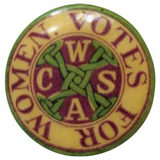 Cira 1900: Original Connecticut Women's Suffrage Association Pin