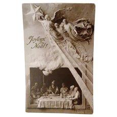 "1910: Domenico Mastroianni  "" Peace at Home "" Christmas Postcard"