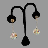 1960's: Vendome Disco Ball Earrings