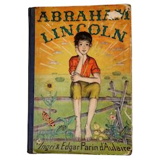 """1939: """" Abraham Lincoln """" First Edition by Ingri& Edgar Parin d'Aulaire"""