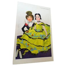 Charming, Lenci Doll Postcard by Marcello Dudovich