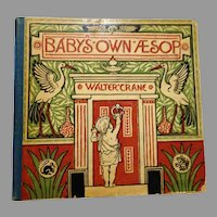 """1887 First Edition : """" Baby's  Own Aesop """" by Walter Crane, Signed by Santa Claus"""