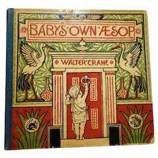 "1887 First Edition : "" Baby's  Own Aesop "" by Walter Crane, Signed by Santa Claus"