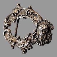 Art Nouveau :Superb Sterling Buckle by Codding Brothers & Heilborne