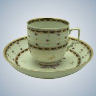 Antique Vienna Cup & Saucer c. 1780